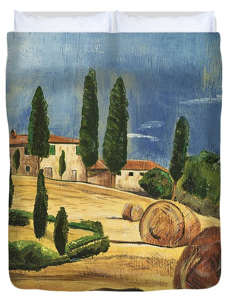 Tuscan Dream 2 Duvet Cover by Debbie DeWitt