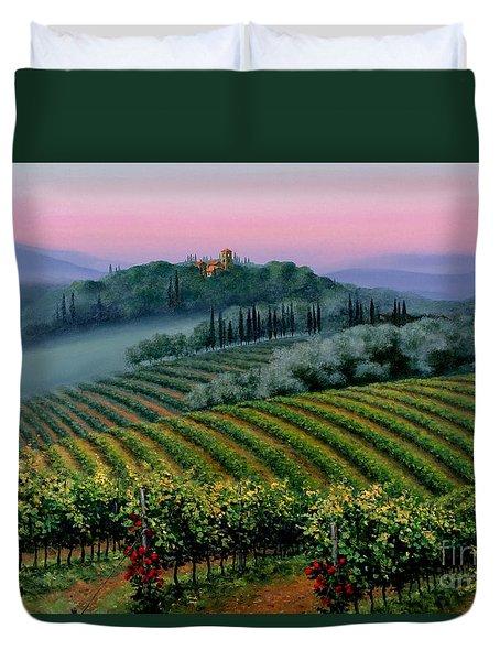Tuscan Dusk Duvet Cover
