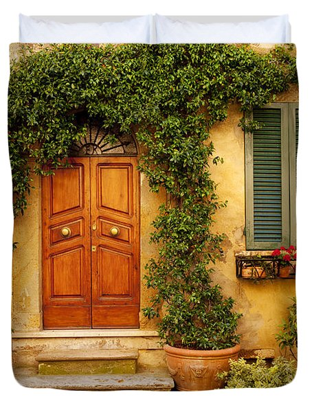 Tuscan Front Door Duvet Cover