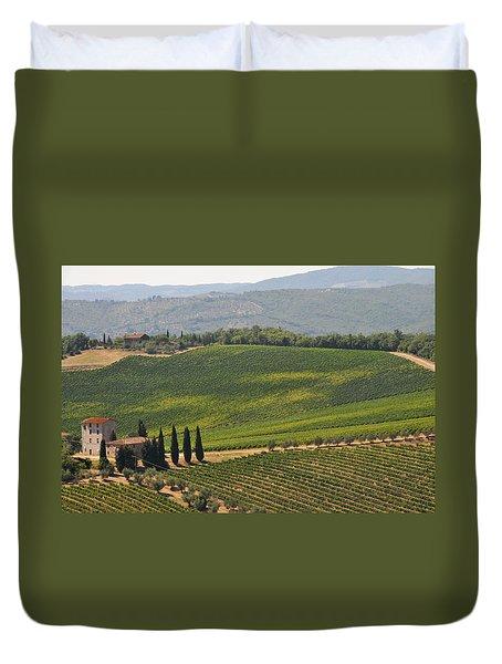 Tuscan Hillside Duvet Cover