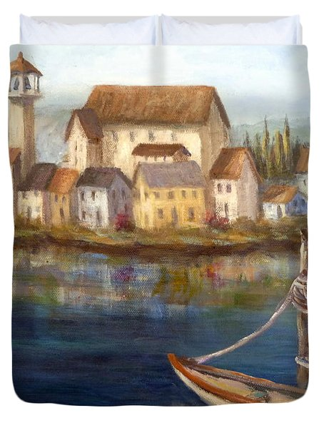 Tuscan Italian Paintings Duvet Cover