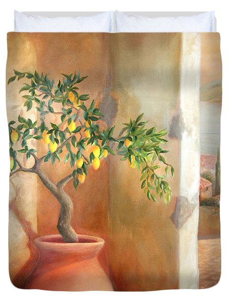 Tuscan Lemon Tree Duvet Cover