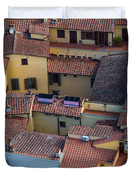 Tuscan Rooftops Duvet Cover