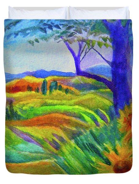 Tuscan Sunflowers Duvet Cover