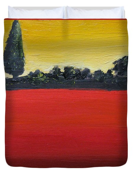 Tuscan Sunrise Duvet Cover by Venus