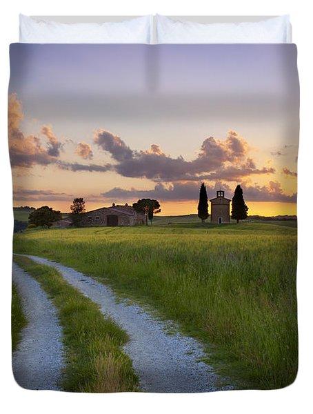 Tuscan Sunset Duvet Cover by Brian Jannsen