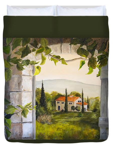 Tuscan View Duvet Cover