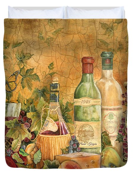 Tuscan Wine Treasures Duvet Cover