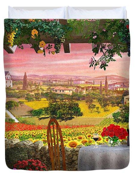 Tuscany Hills Duvet Cover