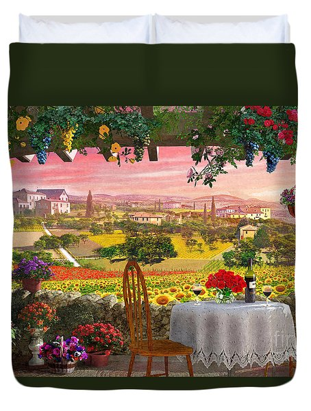 Tuscany Hills Duvet Cover by Dominic Davison