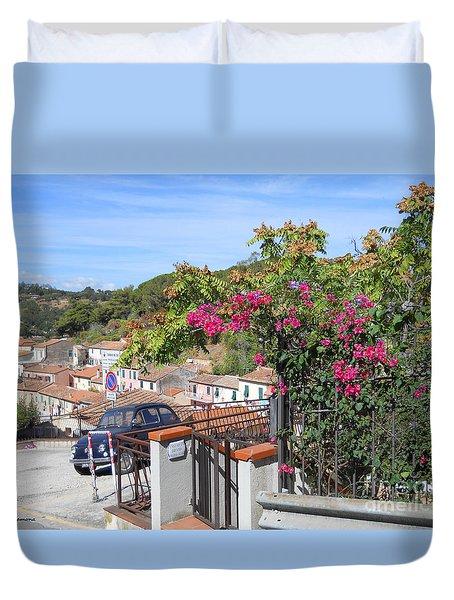 Tuscany Hills Duvet Cover by Ramona Matei