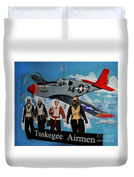 Tuskegee Airmen Duvet Cover by Leon Hollins III