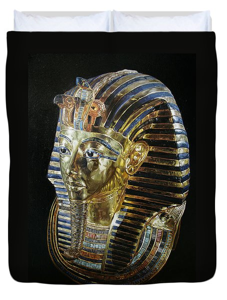Tutankamon's Golden Mask Duvet Cover
