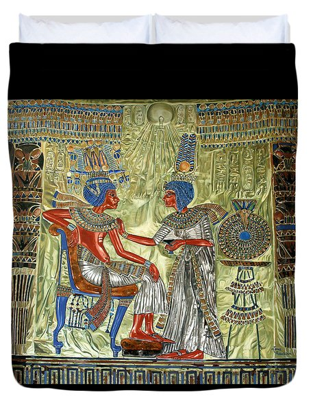 Tutankhamon's Throne Duvet Cover