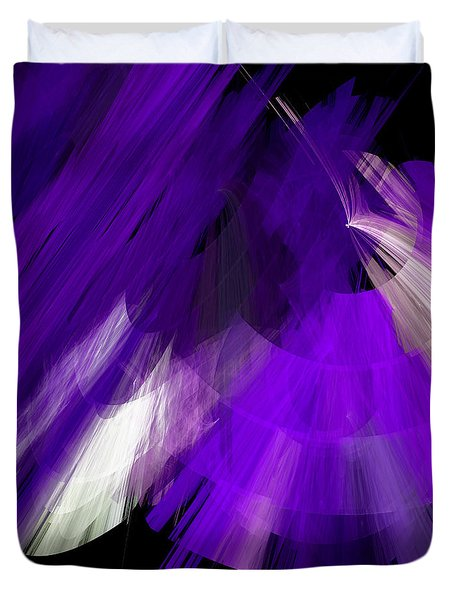 Tutu Stage Left Abstract Purple Duvet Cover by Andee Design