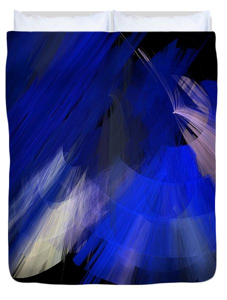 Tutu Stage Left Blue Abstract Duvet Cover by Andee Design