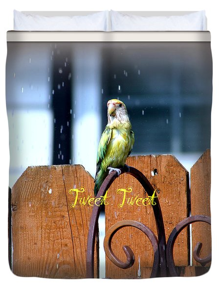 Tweet Tweet Duvet Cover by Kay Novy