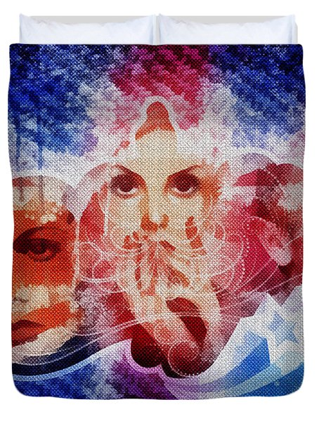 Twiggy Duvet Cover by Mo T