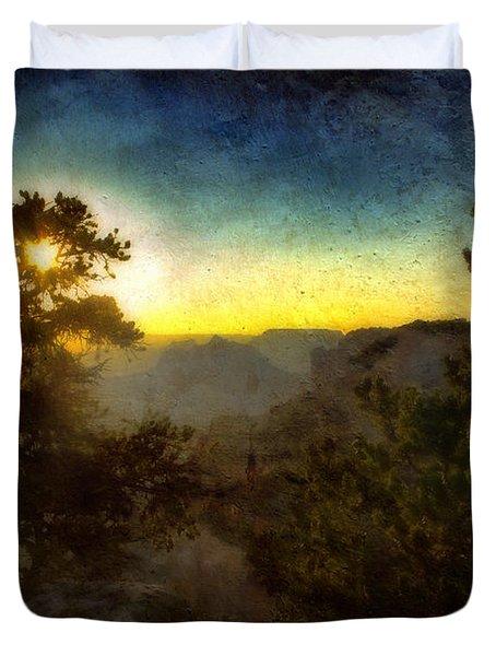 Twilight At The Canyon Duvet Cover by Ellen Heaverlo