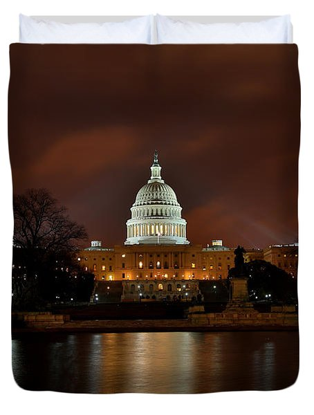 Twilight At The Capitol Duvet Cover