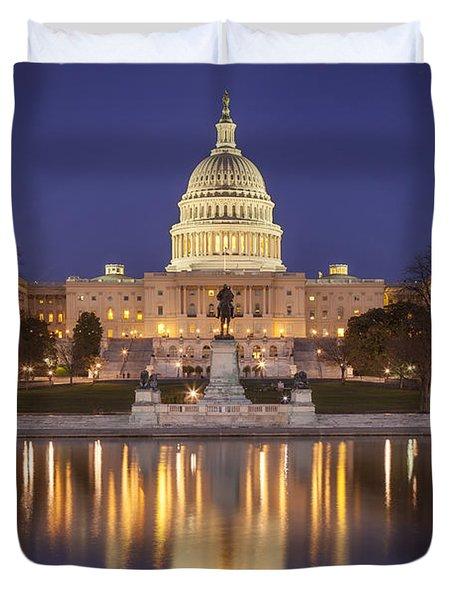 Twilight At Us Capitol Duvet Cover