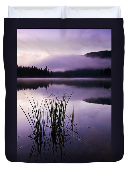 Twilight Glow Duvet Cover by Mike  Dawson