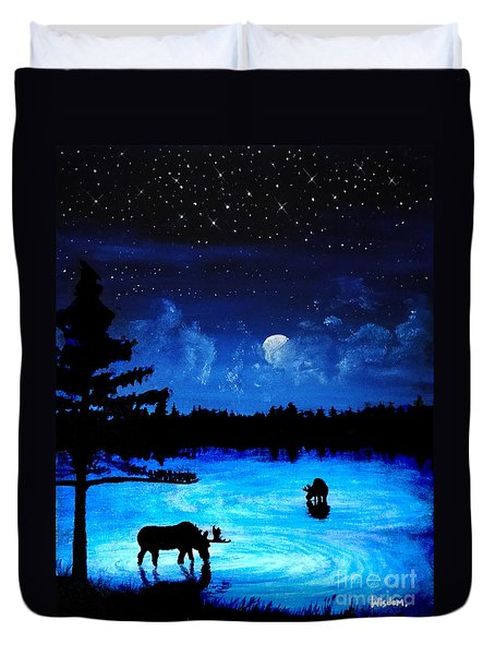 Twilight Moose Duvet Cover by Tylir Wisdom