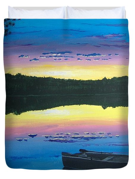 Twilight Quiet Time Duvet Cover by Norm Starks