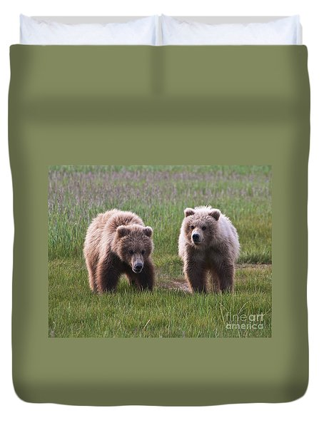 Twin Bear Cubs Duvet Cover