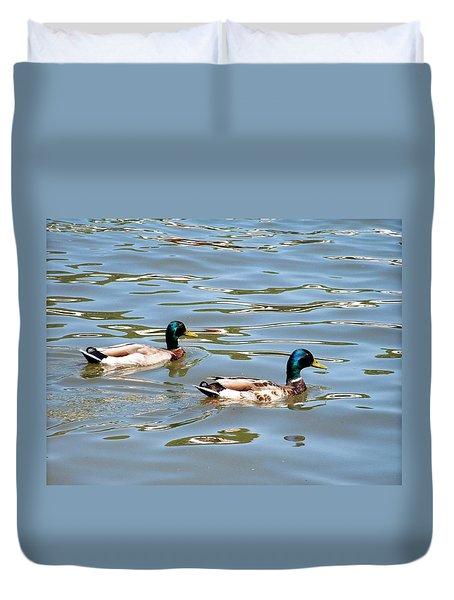 Twin Ducks Duvet Cover
