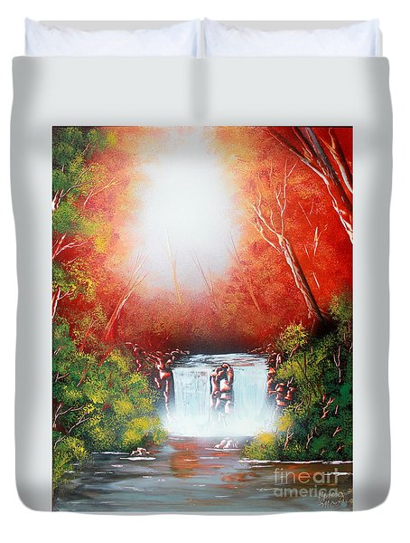 Twin Falls  Duvet Cover