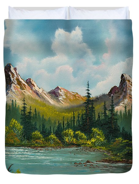 Twin Peaks River Duvet Cover by C Steele