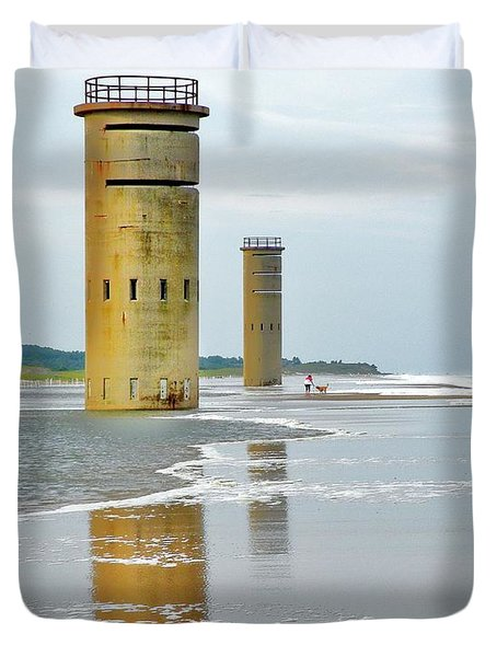 Twin Towers At Whiskey Beach Duvet Cover