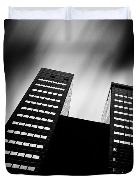 Twin Towers Duvet Cover by Dave Bowman