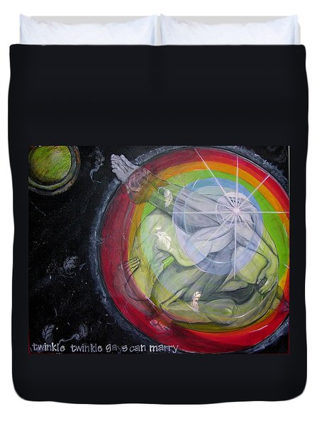 Twinkle Twinkle Gays Can Marry Little Star Duvet Cover