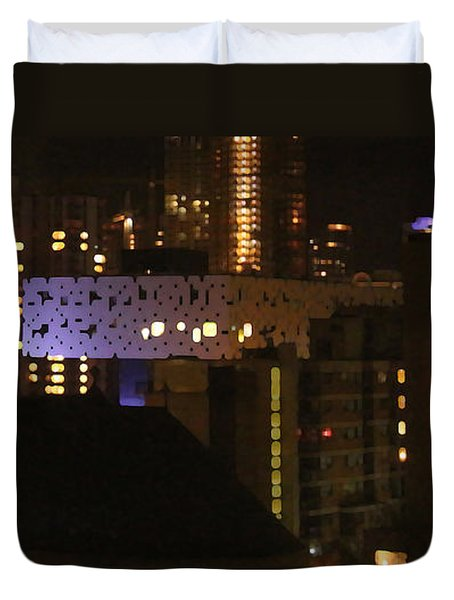 Twinkling City Duvet Cover by Yvonne Wright