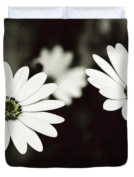 Duvet Cover featuring the photograph Twins  by Lana Enderle