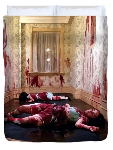 Twins Murdered @ The Shining Duvet Cover