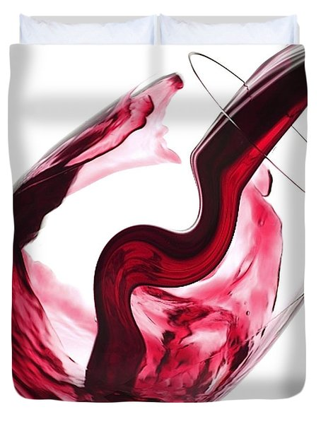 Twisted Flavour Red Wine Duvet Cover