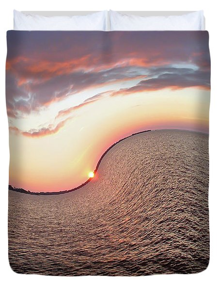 Duvet Cover featuring the photograph Twisted Sunset by Aimee L Maher Photography and Art Visit ALMGallerydotcom