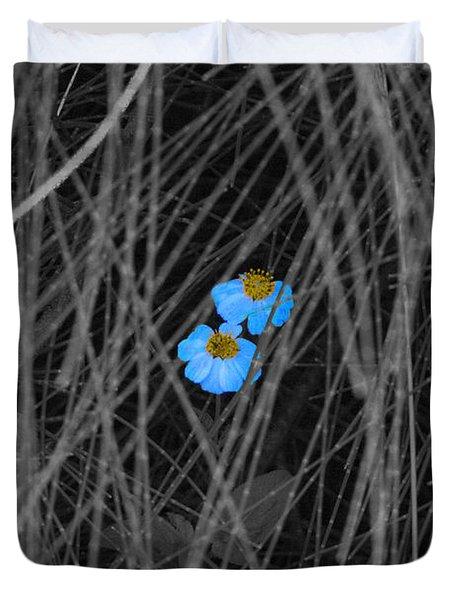 Two Blue Duvet Cover by Douglas Barnard