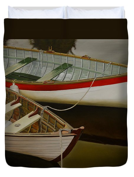 Two Boats Duvet Cover by Thu Nguyen