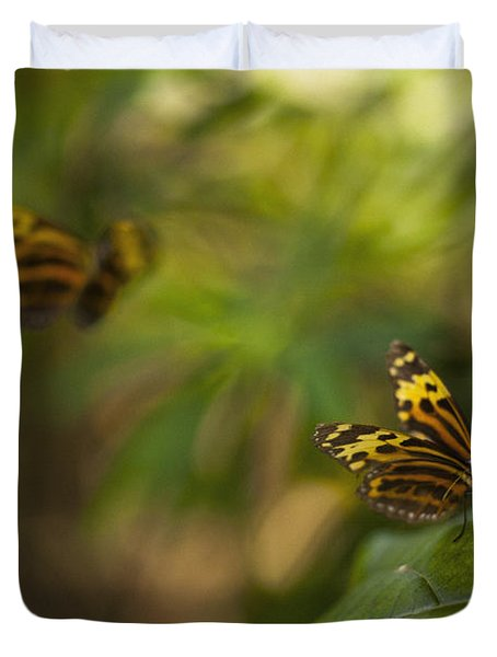 Two Butterflies Duvet Cover by Bradley R Youngberg