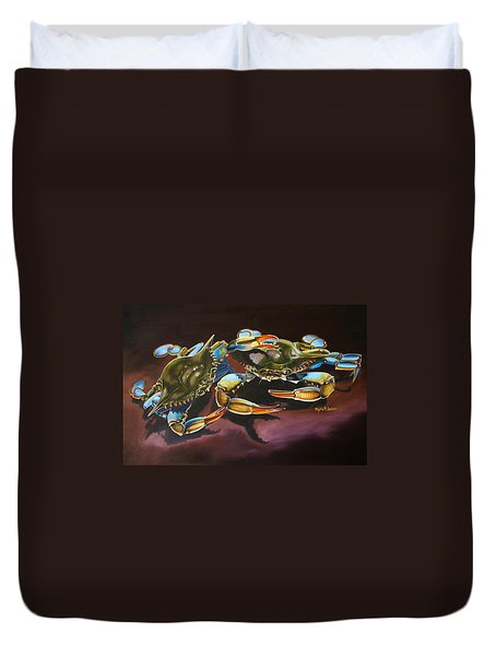 Two Crabs Duvet Cover by Phyllis Beiser