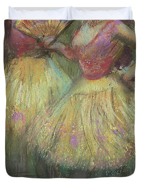 Two Dancers Before Going On Stage Duvet Cover