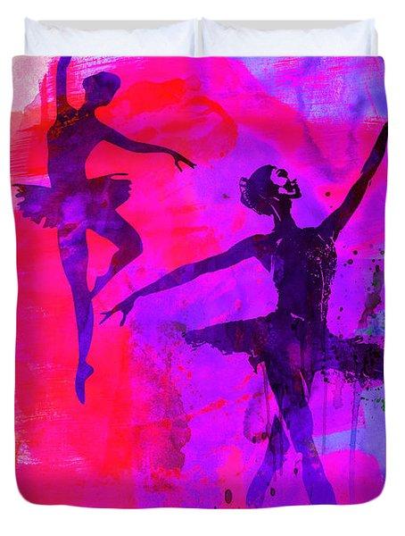 Two Dancing Ballerinas 3 Duvet Cover
