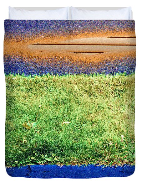 Duvet Cover featuring the photograph Two Driveways 2 Sat.2 Pd 2  by Lyle Crump
