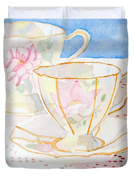 Two For Tea Duvet Cover
