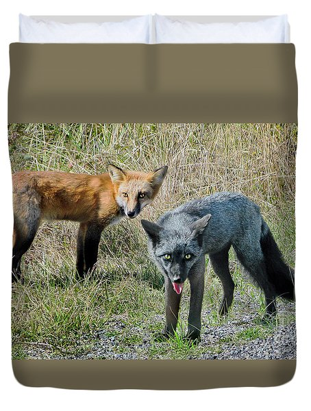 Two Fox Seattle Duvet Cover