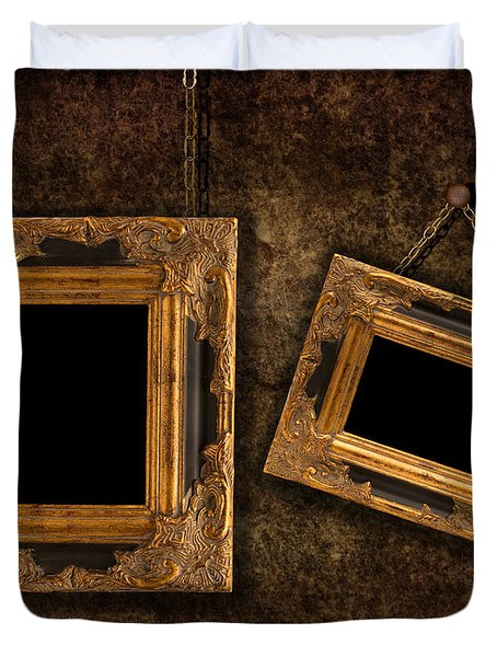 Two Hanging Frames Duvet Cover by Amanda Elwell